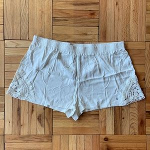 Aerie While Shorts with Crochet Accent